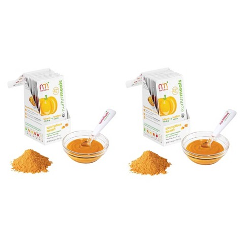 Nurturme Scrumptious Squash Baby Food Packets - 2 Boxes of 8
