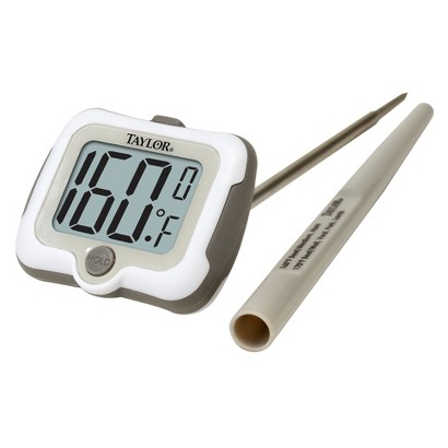 TAYLOR WHITE/SILVER TAYLOR PIVOT DIGITAL THERMOMETER
