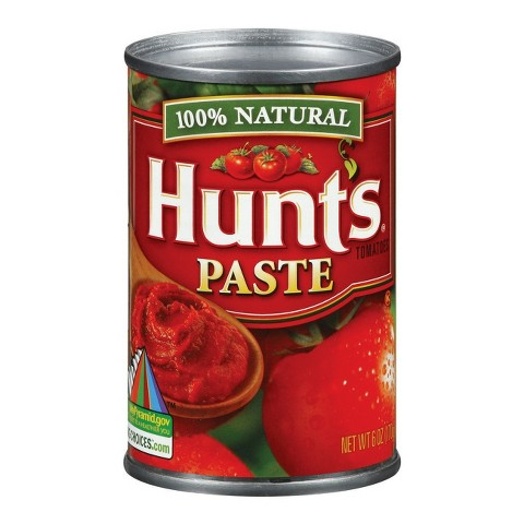 Hunt's 100% Natural Tomato Paste 6 oz