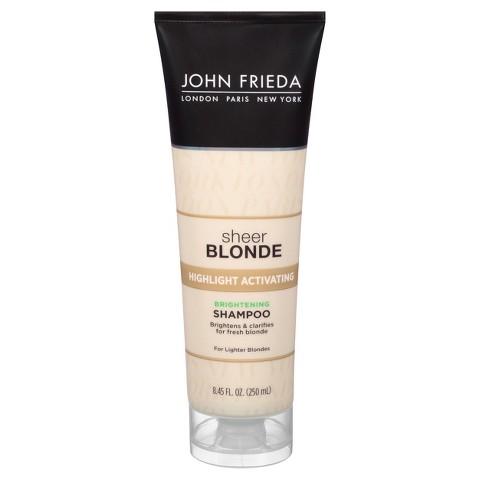 John Frieda Sheer Blonde Highlight Activating Enhancing Shampoo for Lighter Shades - 8.45 oz.