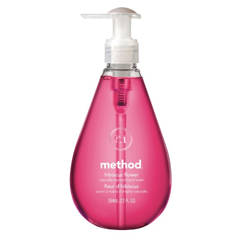 method gel hand wash hibiscus 12oz