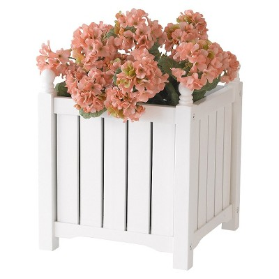 "Lexington Planter Square - White (14"")"
