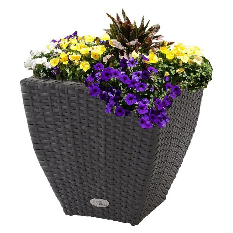 Vista Resin Wicker Curved Planter
