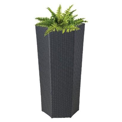 "Vista Planter Resin Wicker Hexagon (40"")"