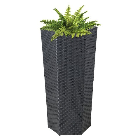 "Vista Planter Resin Wicker Hexagon (40"")"