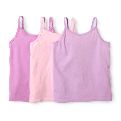 Girls' Hanes&#174 Multicolor 3-pack Sleeveless Camis