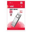 Dirt Devil® Type U Allergen Vacuum Bags (3-Pack), AA10003