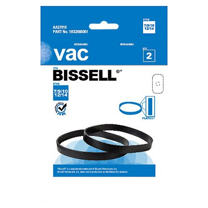 Bissell® Type 7,9,10,12 & 14 Vacuum Belt (2-Pack), AA27910