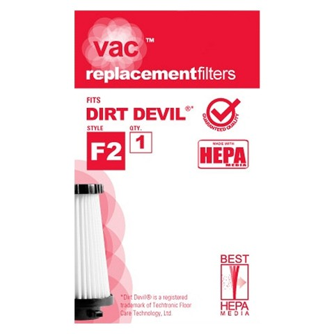 Dirt Devil® Type F2 Vacuum Filter (1-Pack), AA40002