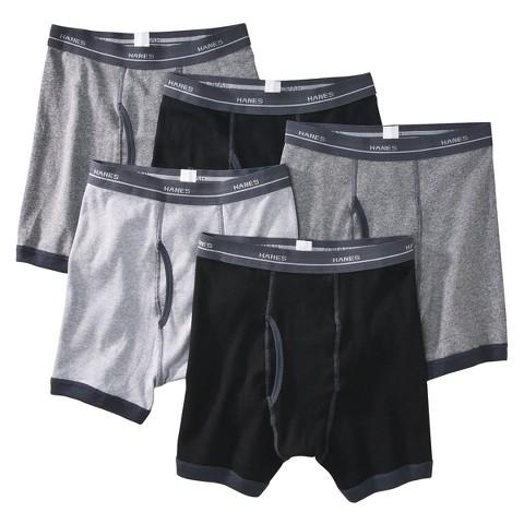 Boys' Hanes&#174 Multicolor 5-pack Ringer Boxer Brief Underwear