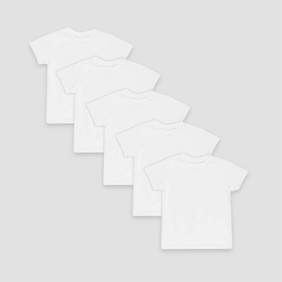 Boys Hanes® White 5-pack Crew T-Shirts
