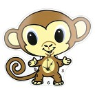 Trend Lab Monkey Wall Clock