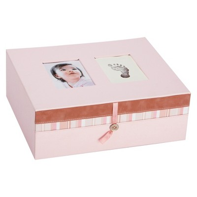 Ecom Decorative Box Pearhe Cardboard Pink Rectangle