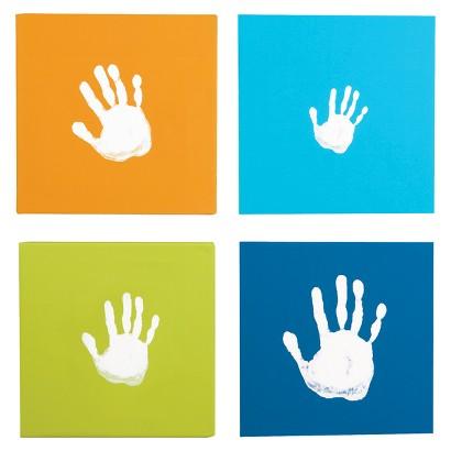 Pearhead Blue Canvas Handprint Set Blue