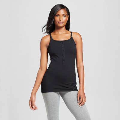 Women's Nursing Henley Cami Black - Gilligan & O'Malley®