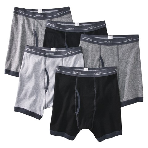 Boys' Hanes&#174 Multicolor 5-pack Ringer Boxer Brief Underwear