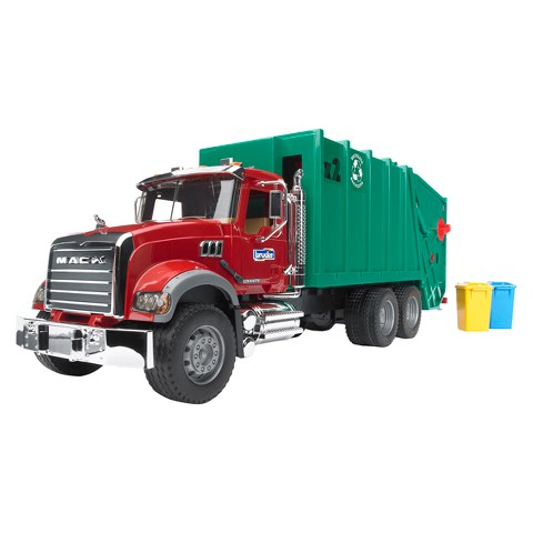 Bruder MACK Granite Garbage Truck - Red/Green
