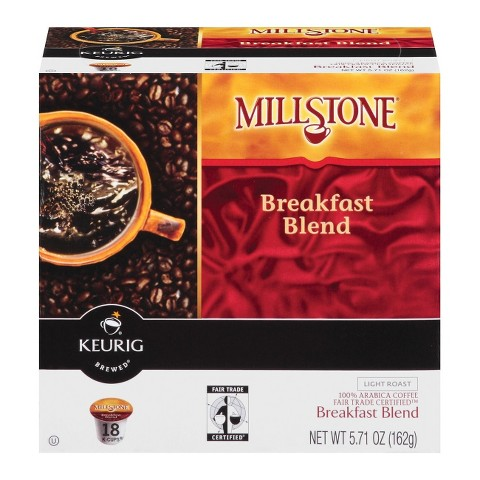 Millstone Breakfast Blend Light Roast Coffee K-Cups 18 ct