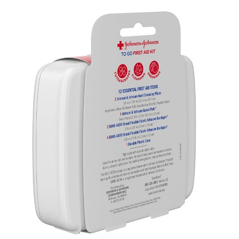 Johnson & Johnson Essential First aid Items - 12 Count
