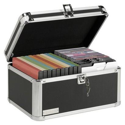 Vaultz® Desktop Media Lock Box Black