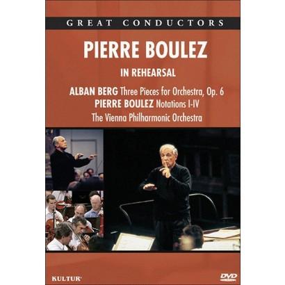 Pierre Boulez: In Rehearsal