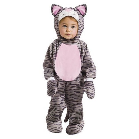 Infant/Toddler Girl Grey Kitten Costume