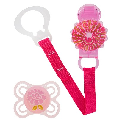 MAM Baby -  Perfect Pacifier with Twist Clip (0+ Months) - Pink