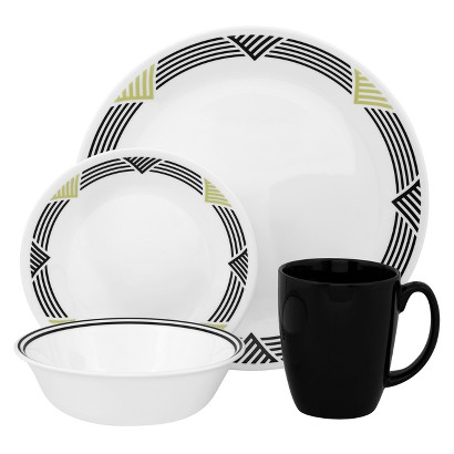 Corelle 16 Piece Dinnerware Set - Global Stripes