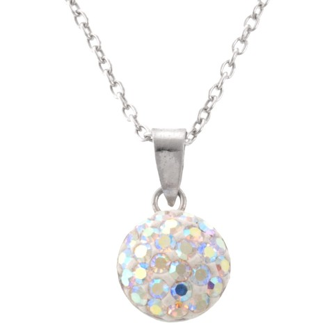 8mm Crystal Half Ball Necklace