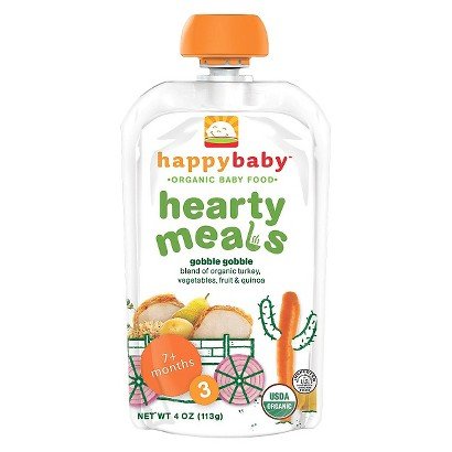 Happy Baby Organic Baby Food Stage 3 - Gobble Gobble (16 Pack)