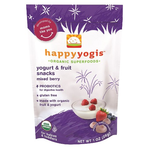 HappyBaby HappyYogis Organic Yogurt Snacks - Mixed Berry (8 Pack)