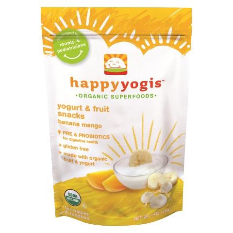 HappyBaby HappyYogis Organic Yogurt Snacks - Banana Mango (8 Pack)
