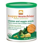 Happy Baby Happy Munchies Baked Organic Cheese & Veggie Snack - Broccoli, Kale & Cheddar (6 Pack)
