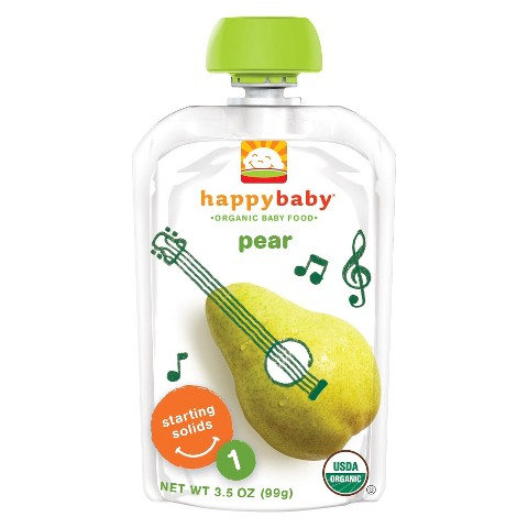 Happy Baby Organic Baby Food Stage 1 - Pear (8 Pack)