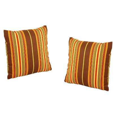 Honeylane 2-Piece Outdoor Toss Pillow - Beige/Brown 18""
