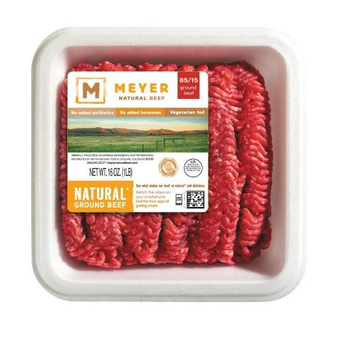 Meyer 85/15 Natural Ground Beef 16-oz.