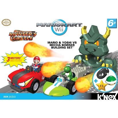 K'NEX Mario Kart Wii Mario and Yoshi vs Mecha Bowser Building Set