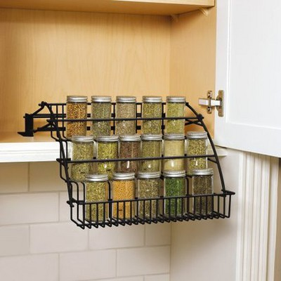 Rubbermaid Pull-Down Spice Rack - Black