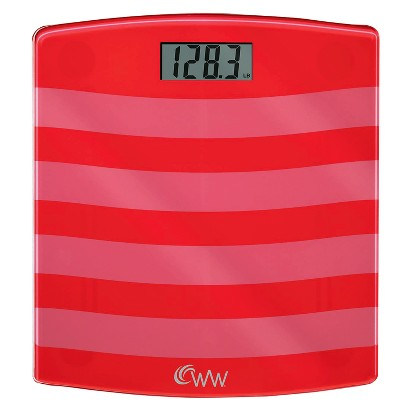 Weight Watchers® Glass Scale - Red