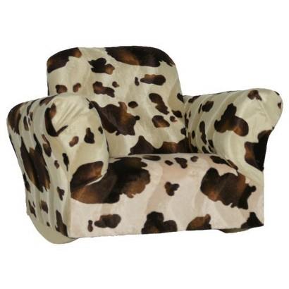 Komfy Kings Kids' Upholstered Brown Pony Rocker Chair