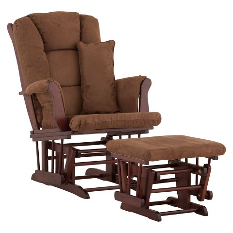 Storkcraft Tuscany Cherry Frame Glider and Ottoman
