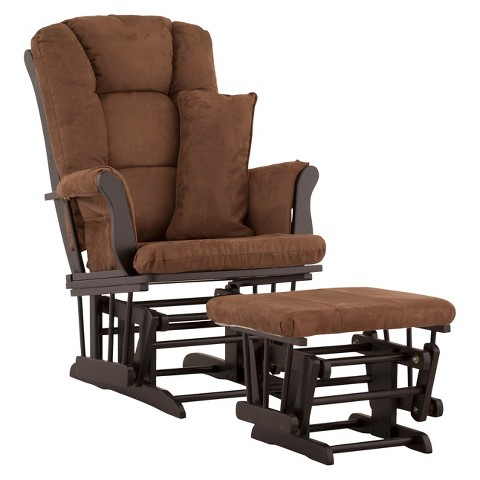 Storkcraft Tuscany Black Frame Glider and Ottoman