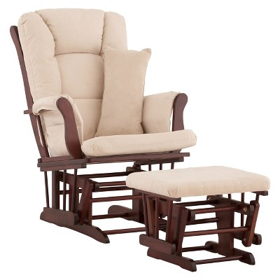 Stork Craft Tuscany Cherry Glider and Ottoman - Beige