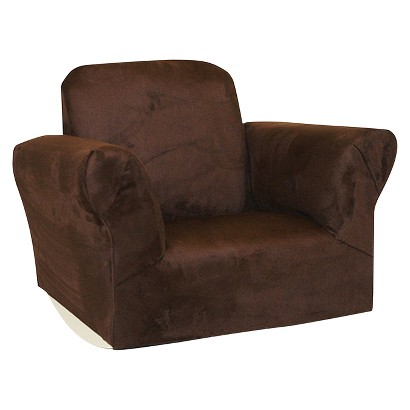 Komfy Kings Upholstered Kids Rocker Chair Chocol Tar