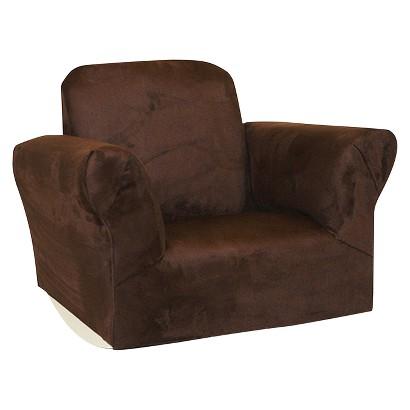Komfy Kings Upholstered Kids Rocker Chair Chocol Tar