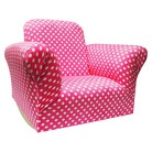 Komfy Kings Hot Pink Upholstered Kids' Rocker Chair