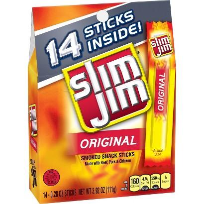 Slim Jim Original Smoked Snack Sticks 16 ct