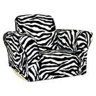 Komfy Kings Zebra Upholstered Kids' Rocker Chair