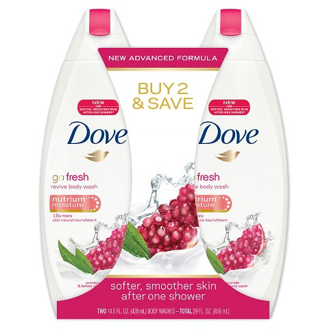 Dove go fresh Revive Body Wash 14.5 oz, Twin Pack