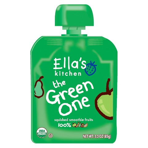 Ella's Kitchen Organic Pureed Baby Food Smoothie - The Green One 3oz (7 pack)